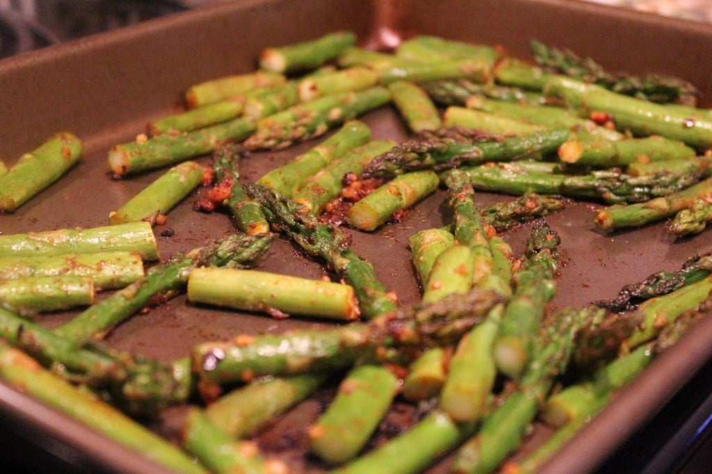 Smoky Spicy Asparagus | No Thanks to Cake