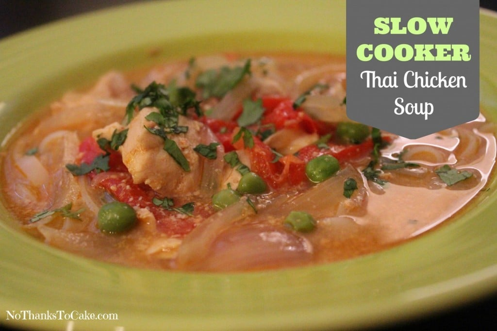 Slow Cooker Thai Chicken Soup | No Thanks to Cake