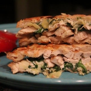 Chicken Spinach and Artichoke Paninis