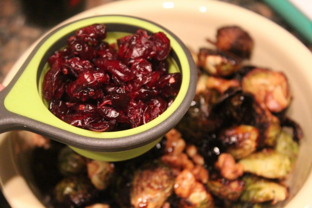 Cranberry-Walnut Roasted Brussels Sprouts | No Thanks to Cake