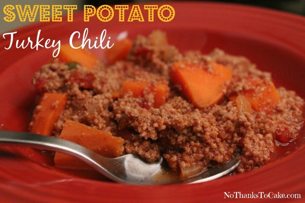 Sweet Potato Turkey Chili | No Thanks to Cake