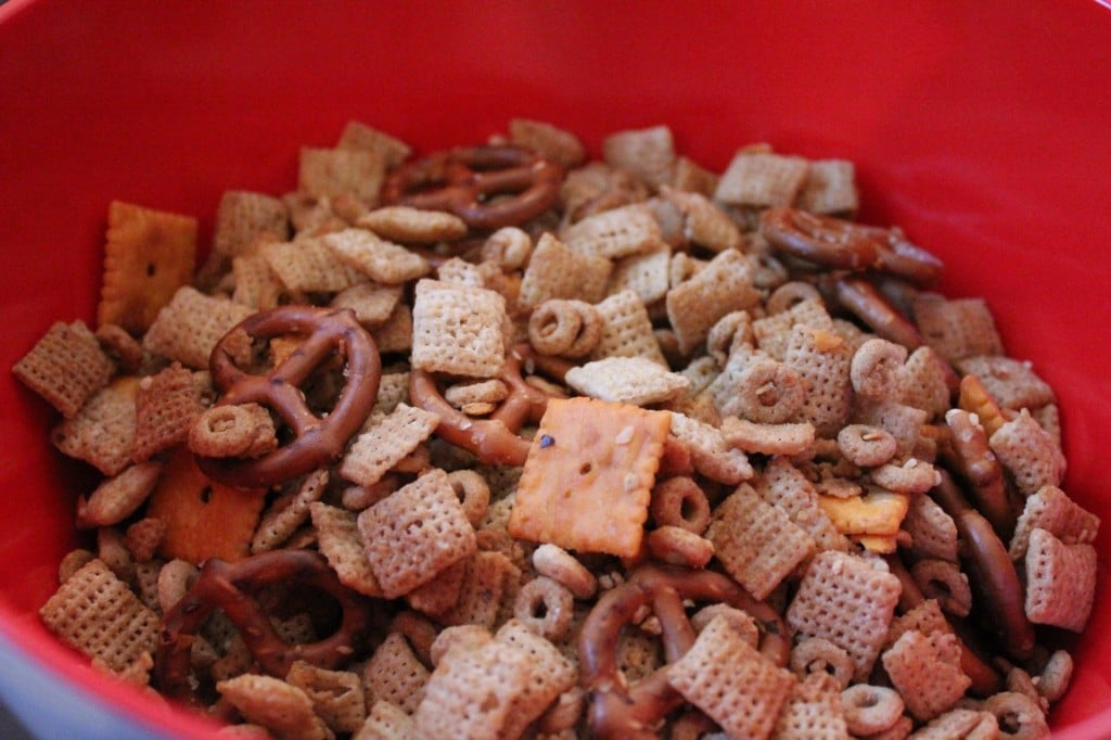 Lightened Up Holiday Chex Mix | No Thanks to Cake