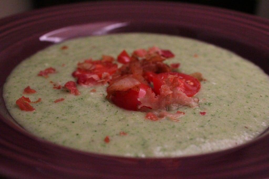 Healthy Cheesy Broccoli Potato Soup | No Thanks to Cake