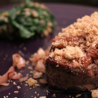 Horseradish-Crusted Filet Mignon | No Thanks to Cake