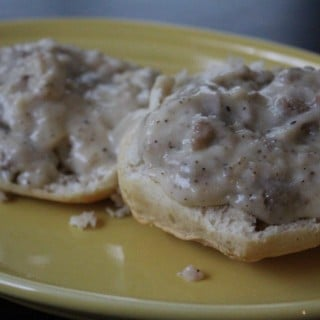 Lightened Up Biscuits and Gravy