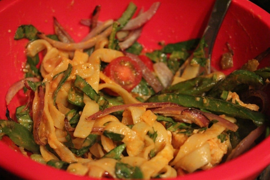 Jenny Craig Volumizing: Chicken Fajita Fettuccine | No Thanks to Cake