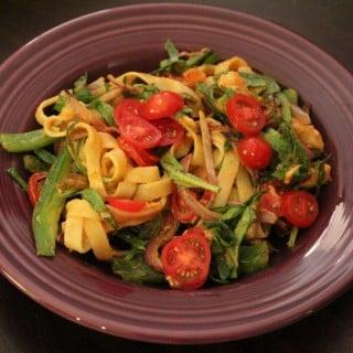 Jenny Craig Recipe Creation: Chicken Fajita Fettuccine