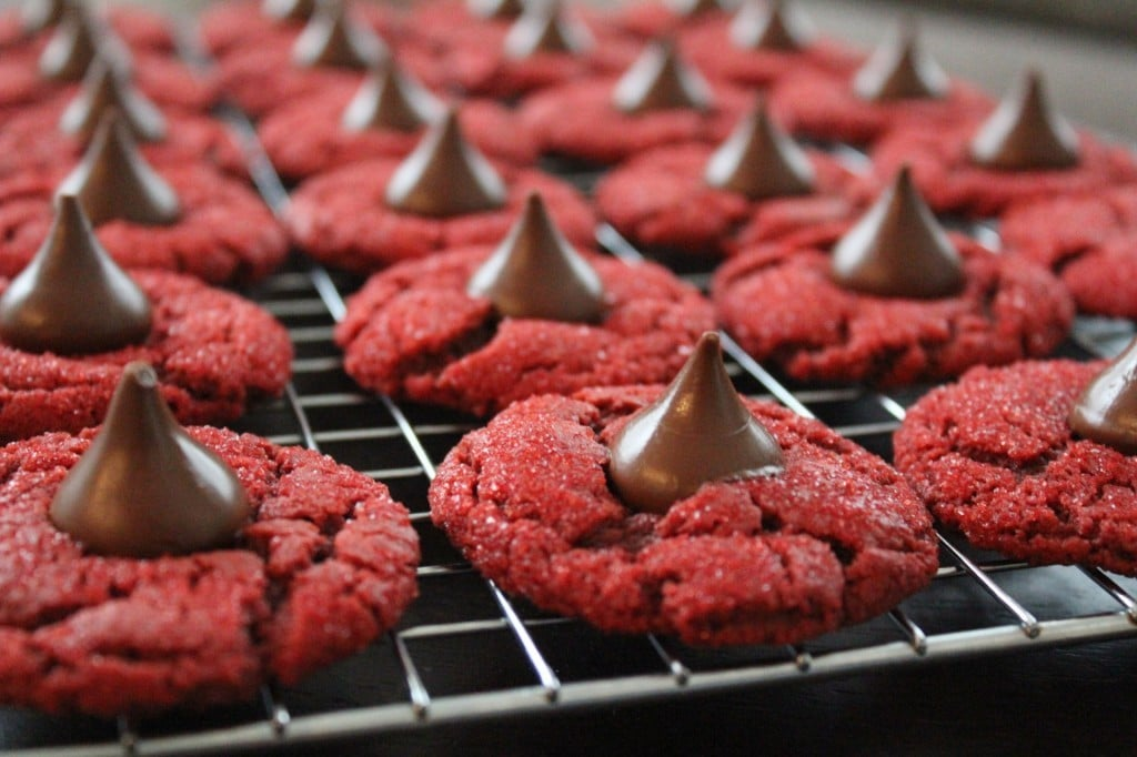 Red Velvet Peanut Butter Blossoms | No Thanks to Cake
