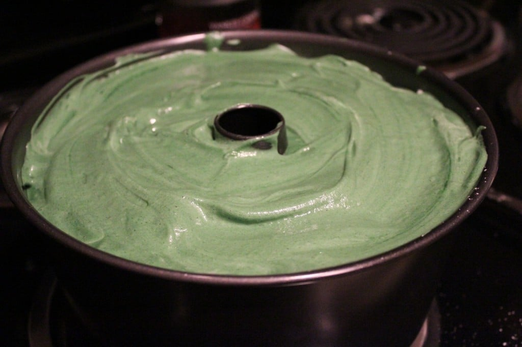 Green Velvet Angel Food Cake | No Thanks to Cake