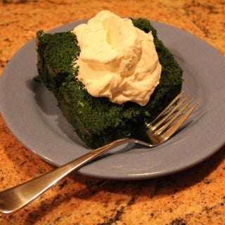 Green Velvet Angel Food Cake