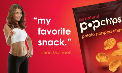 Jillian Michaels PopChips | No Thanks to Cake