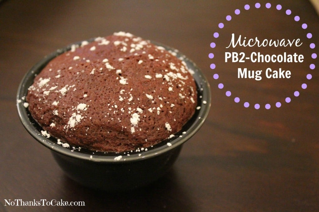 Microwave PB2 Chocolate Mug Cake | No Thanks to Cake