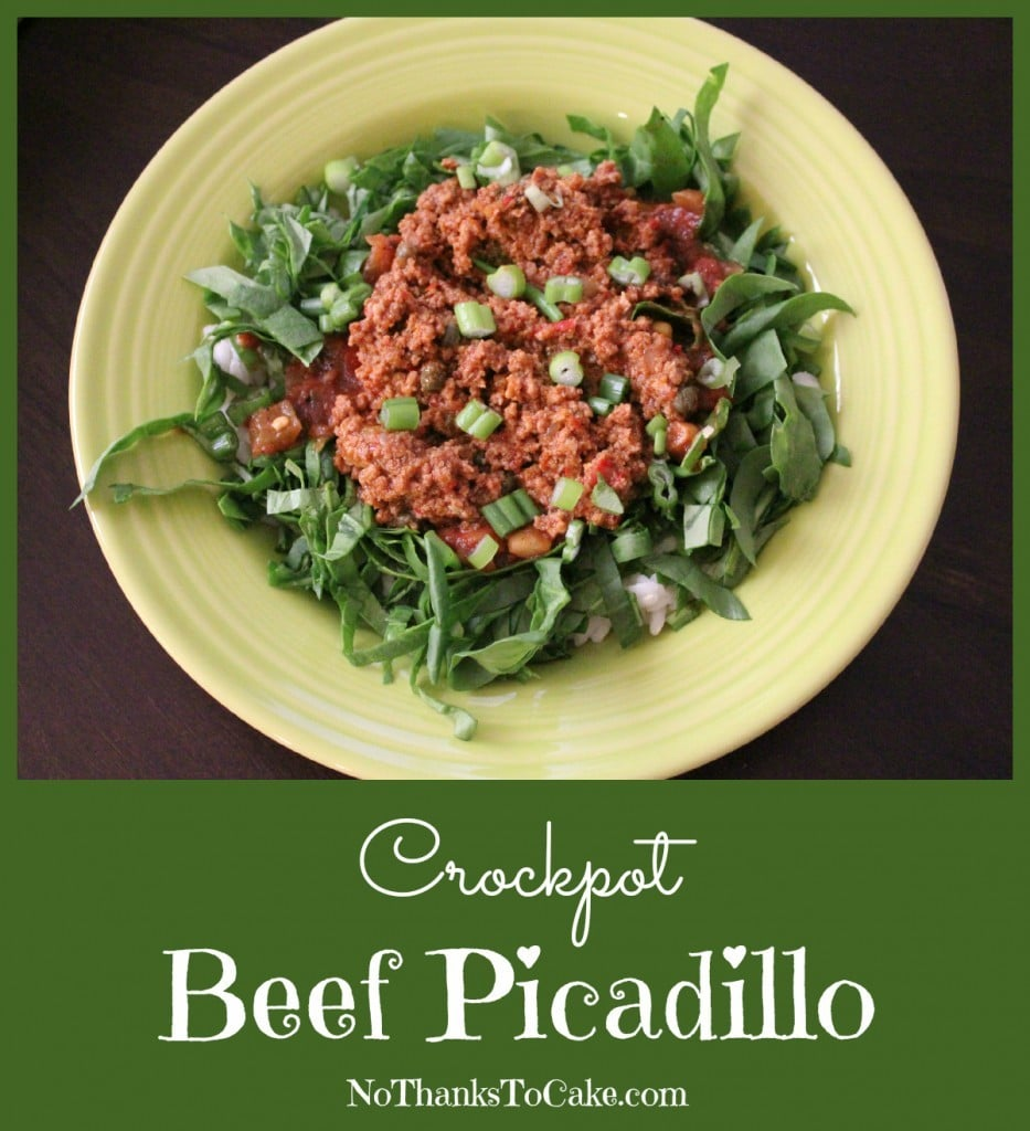 Crockpot Beef Picadillo | No Thanks to Cake