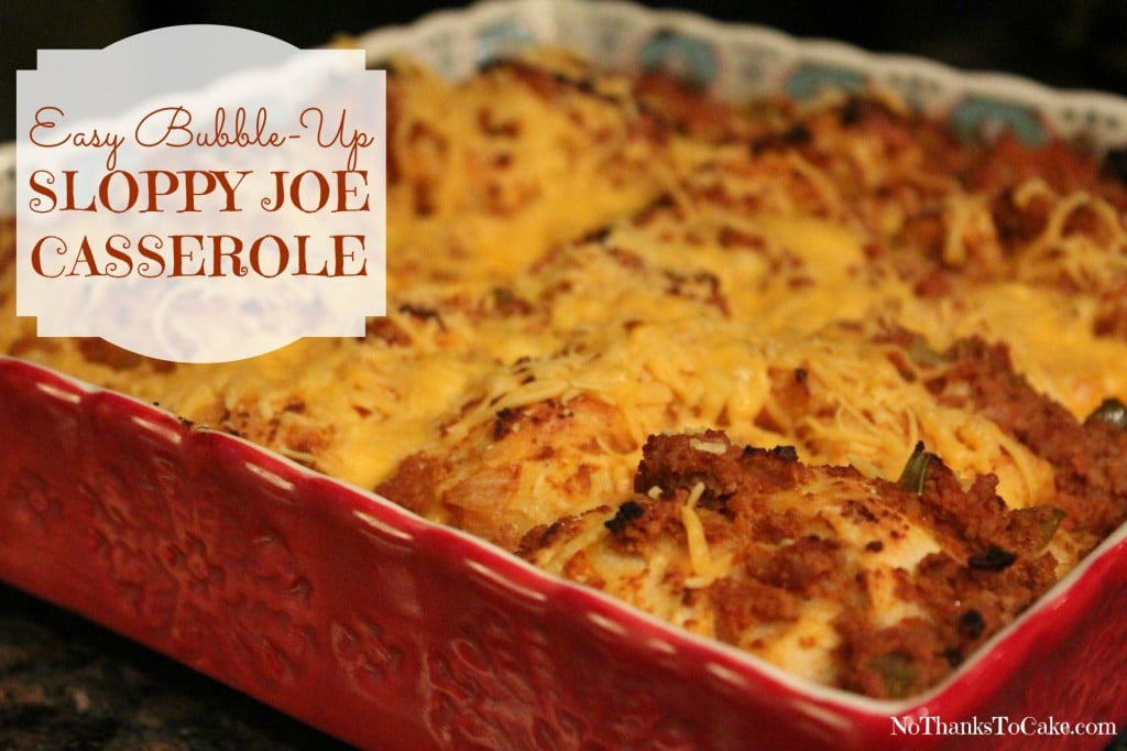 Ve made a few of these bubble up casseroles now