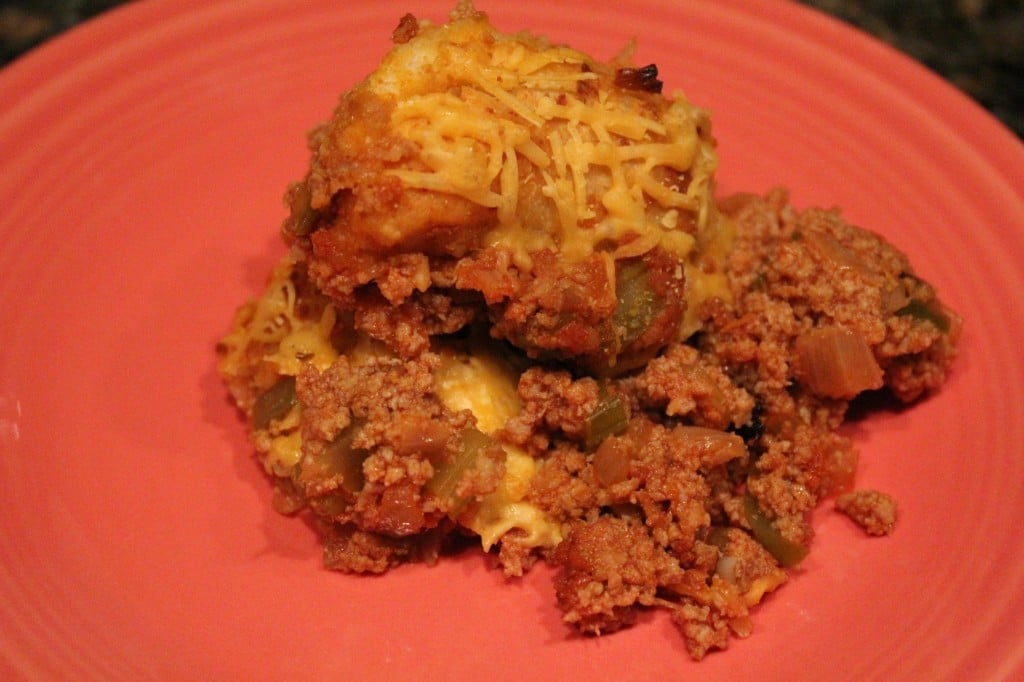 Easy Bubble-Up Sloppy Joe Casserole | No Thanks to Cake