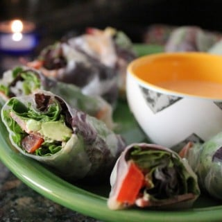 BLT Summer Rolls with Lime-Sriracha Dipping Sauce