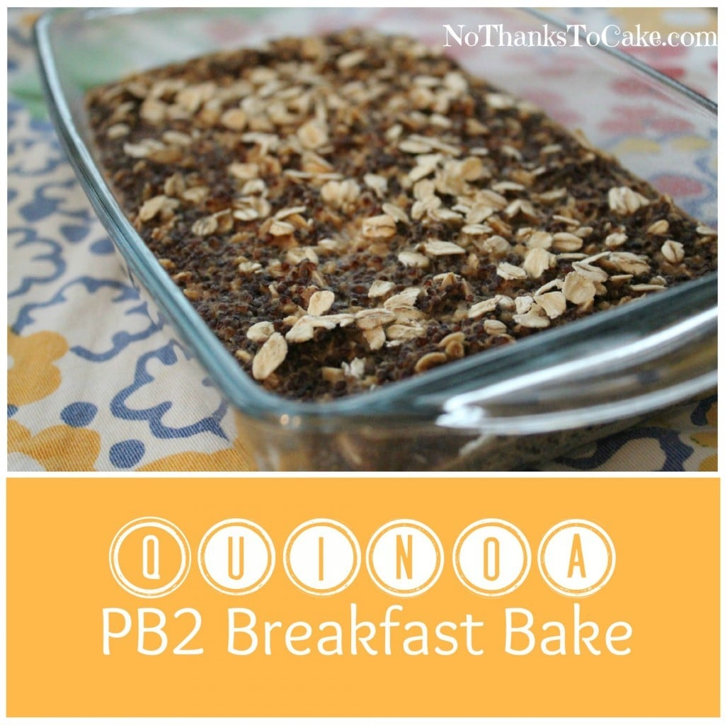 Quinoa PB2 Breakfast Bake