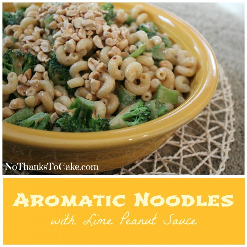 Aromatic Noodles with Lime Peanut Sauce | No Thanks to Cake