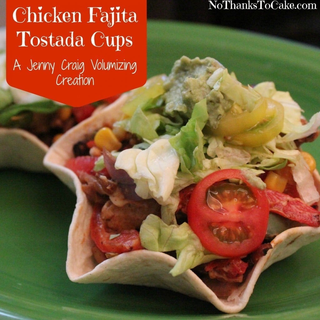 Chicken Fajita Tostada Cups | No Thanks to Cake