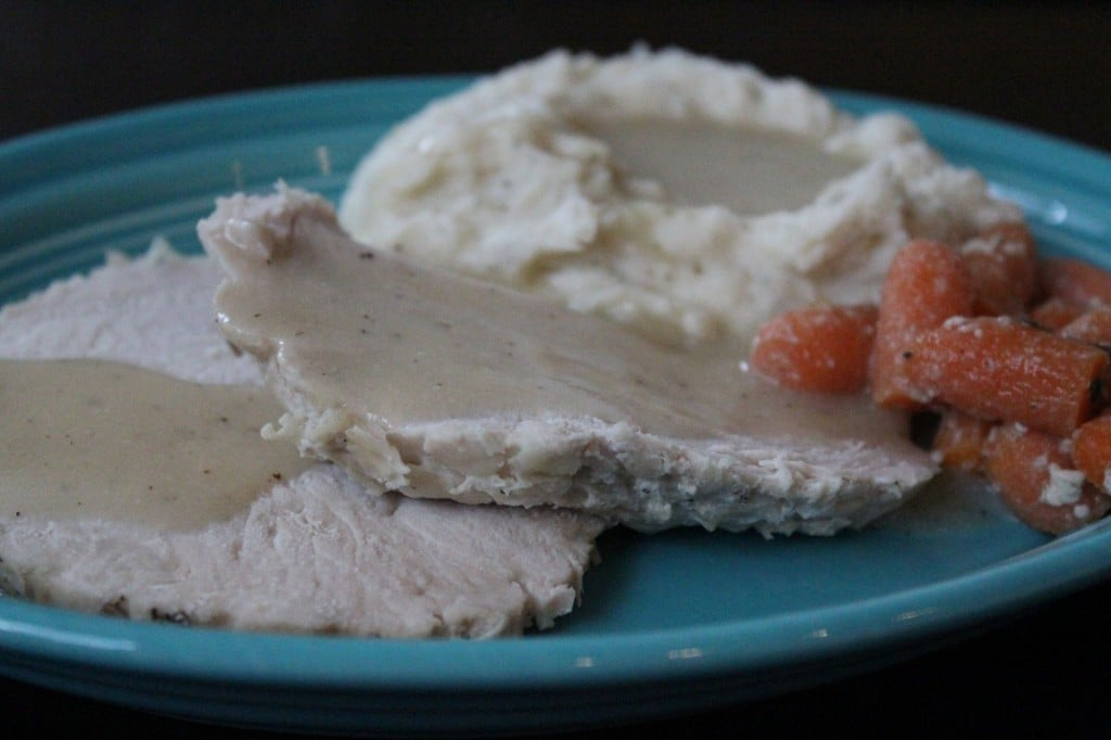 Slow Cooker Turkey Breast with Gravy | No Thanks to Cake