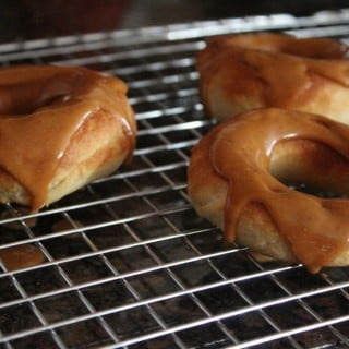 "Baked ""Cresnuts"" with Peanut Butter Glaze"