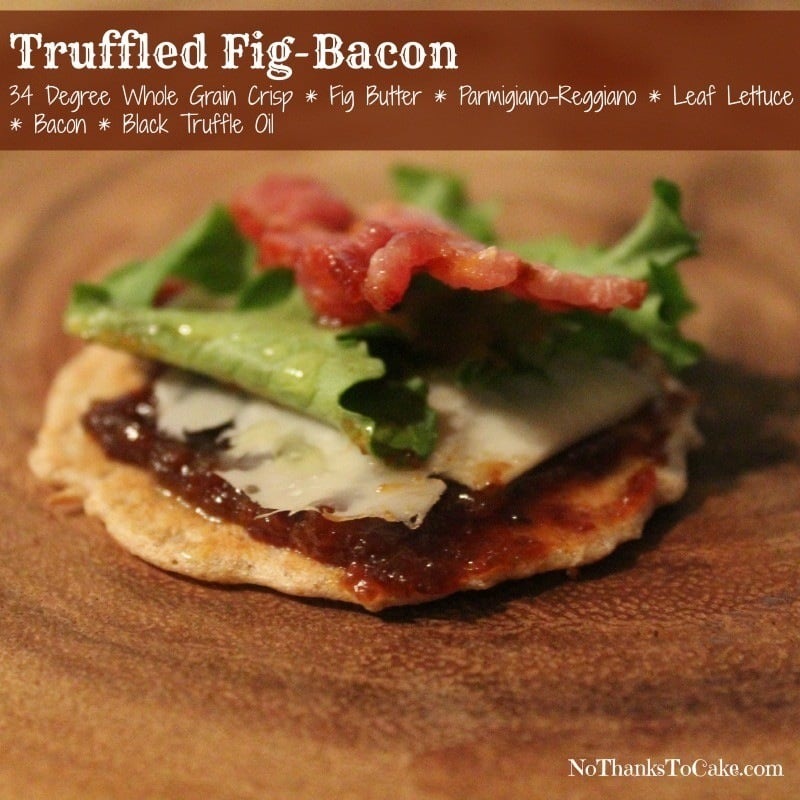 Truffled Fig Bacon Pairing 34 Degrees Crackers | No Thanks to Cake