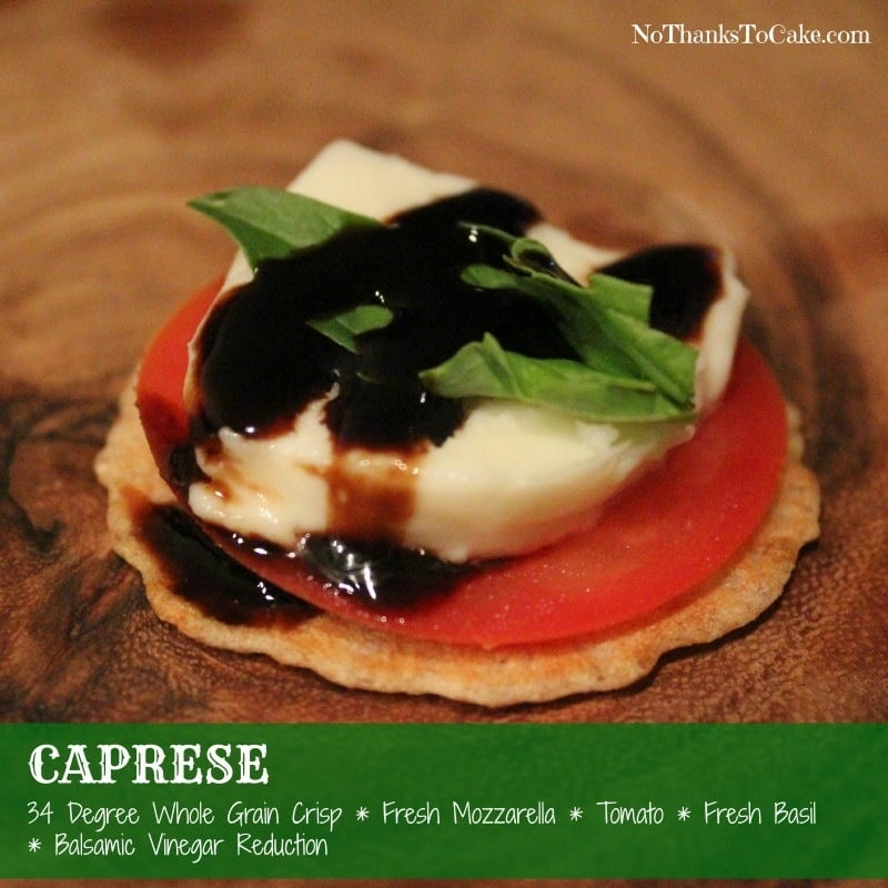Caprese Pairing 34 Degrees Crackers | No Thanks to Cake
