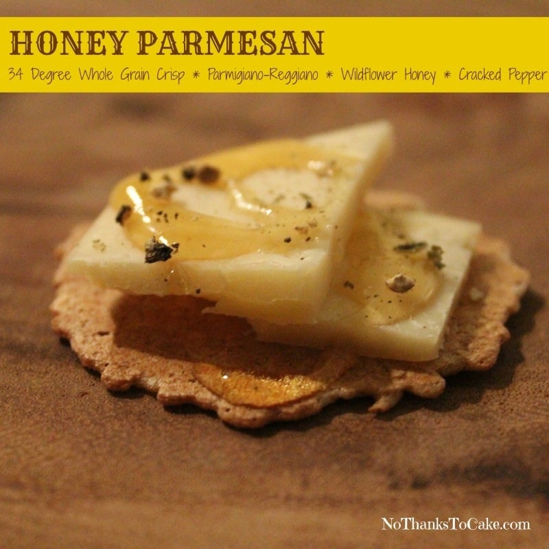 Honey Parmesan Pairing 34 Degrees Crackers | No Thanks to Cake