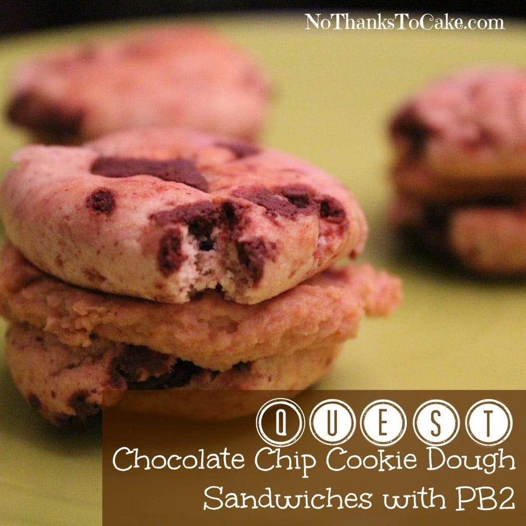 Quest Chocolate Chip Cookie Dough Sandwiches with PB2 | No Thanks to Cake