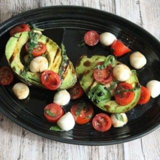 Grilled Avocado Caprese