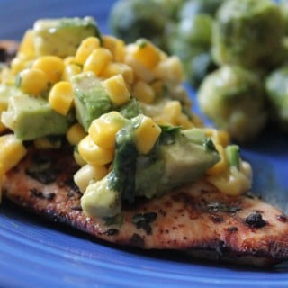 Grilled Lime Chicken with Avocado-Corn Salsa