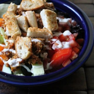 Jenny Volumizing: Taco Salad with Mexican Spiced Croutons | No Thanks to Cake