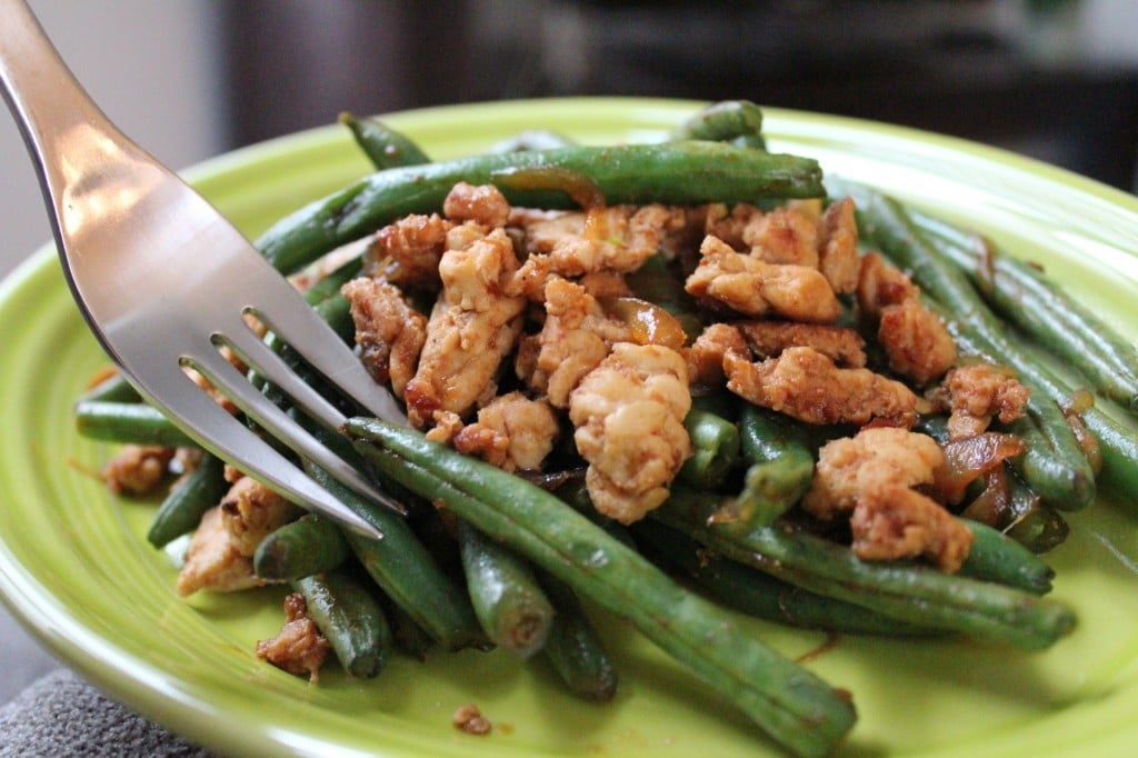 Chinese Green Beans with Ground Turkey | No Thanks to Cake