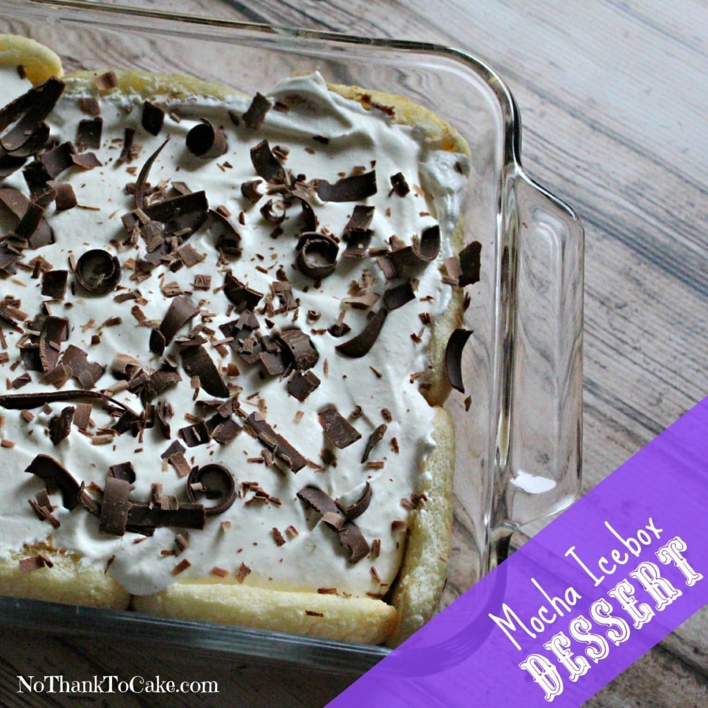 Mocha Icebox Dessert | No Thanks to Cake
