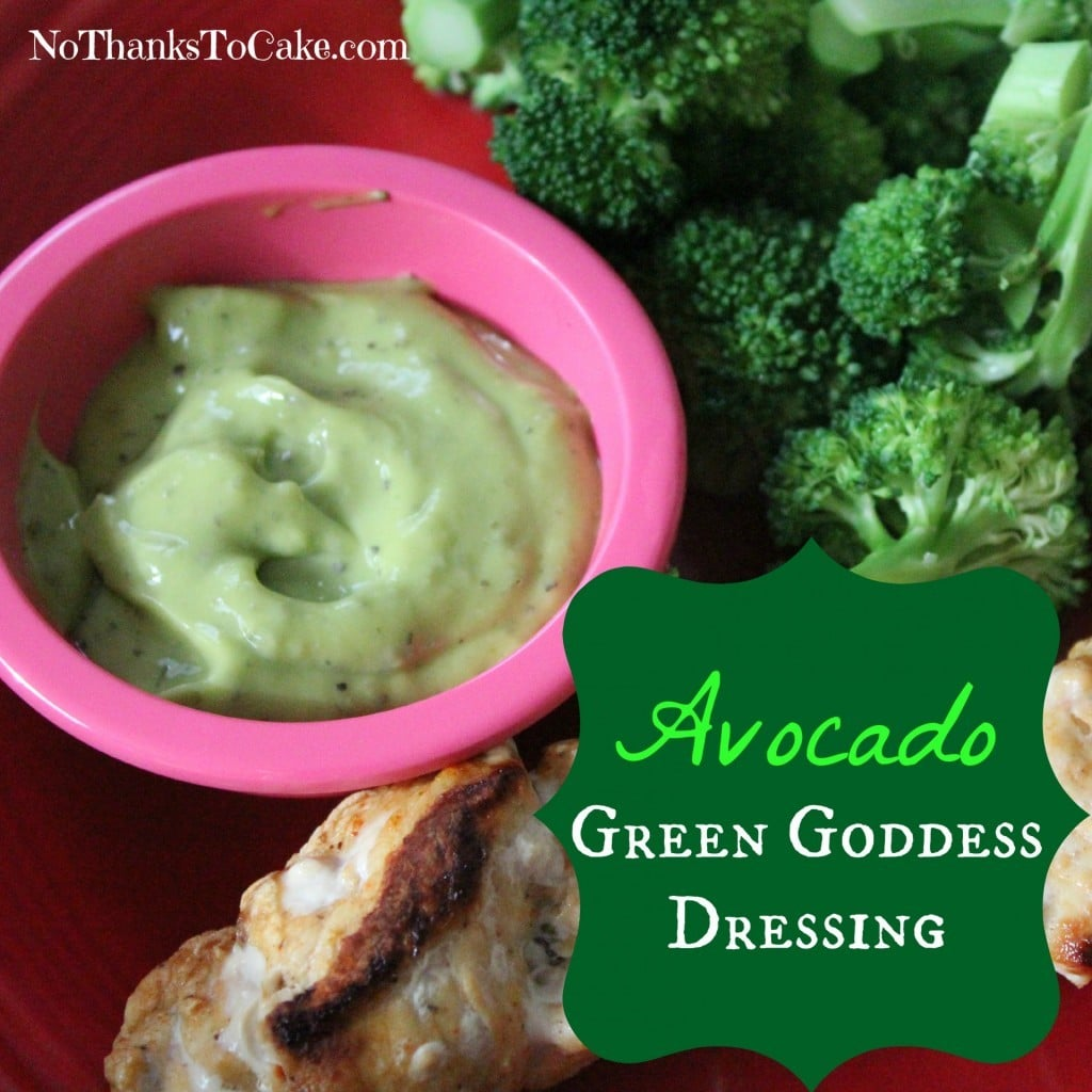 Avocado Green Goddess Dressing | No Thanks to Cake