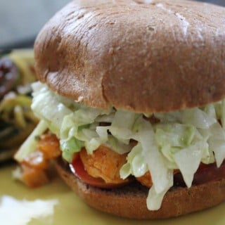 Jenny Craig Recipe Creation:  Chopped Buffalo Chicken Sandwich