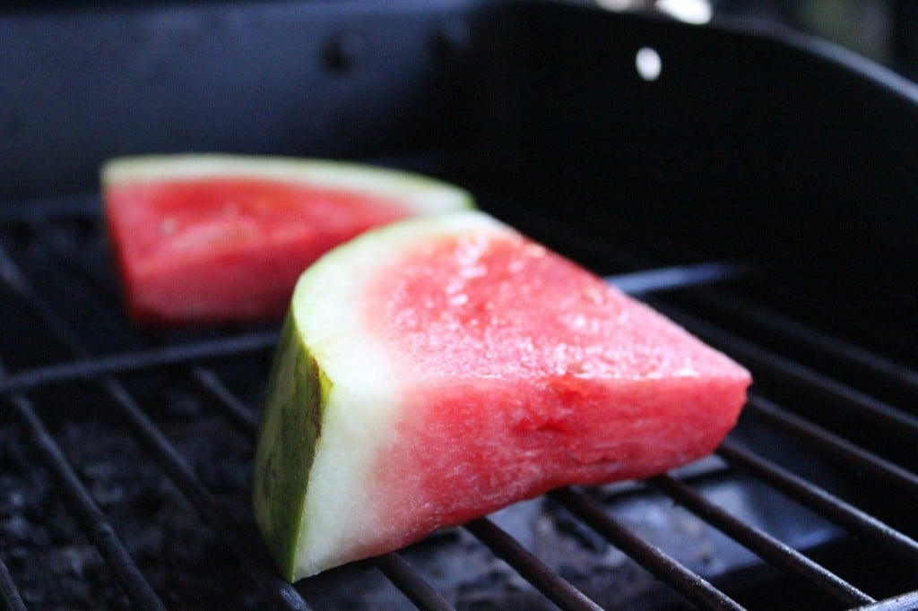 Grilled Watermelon with Fresh Herbs and Parmesan | No Thanks to Cake