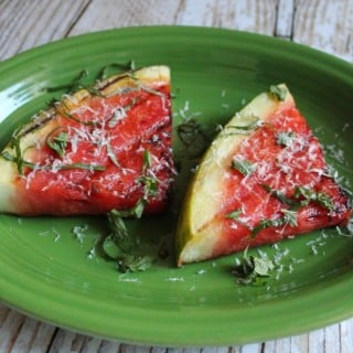 Grilled Watermelon with Fresh Herbs and Parmesan