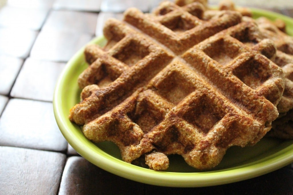 Whole Wheat Pumpkin Waffles | No Thanks to Cake