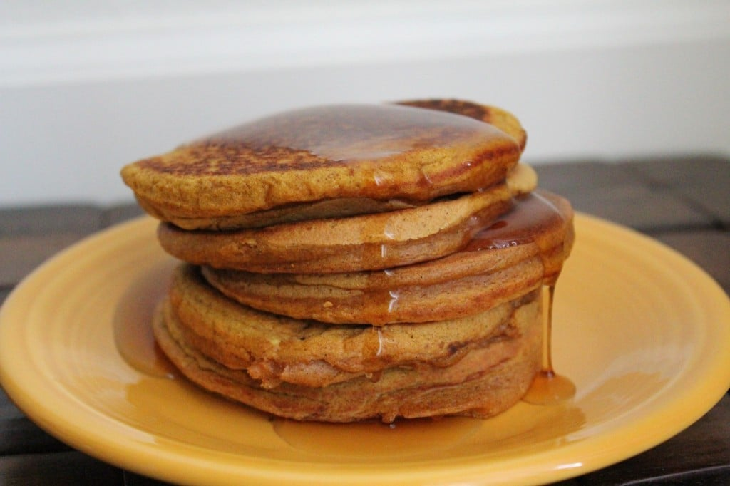 Healthy Pumpkin Pancakes | No Thanks to Cake