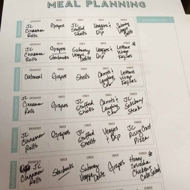 3 Things I Learned from Menu Planning | No Thanks to Cake