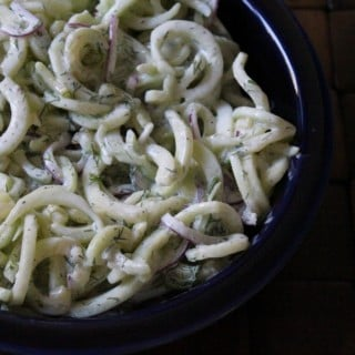 Spiralized Tzatziki Cucumber Salad