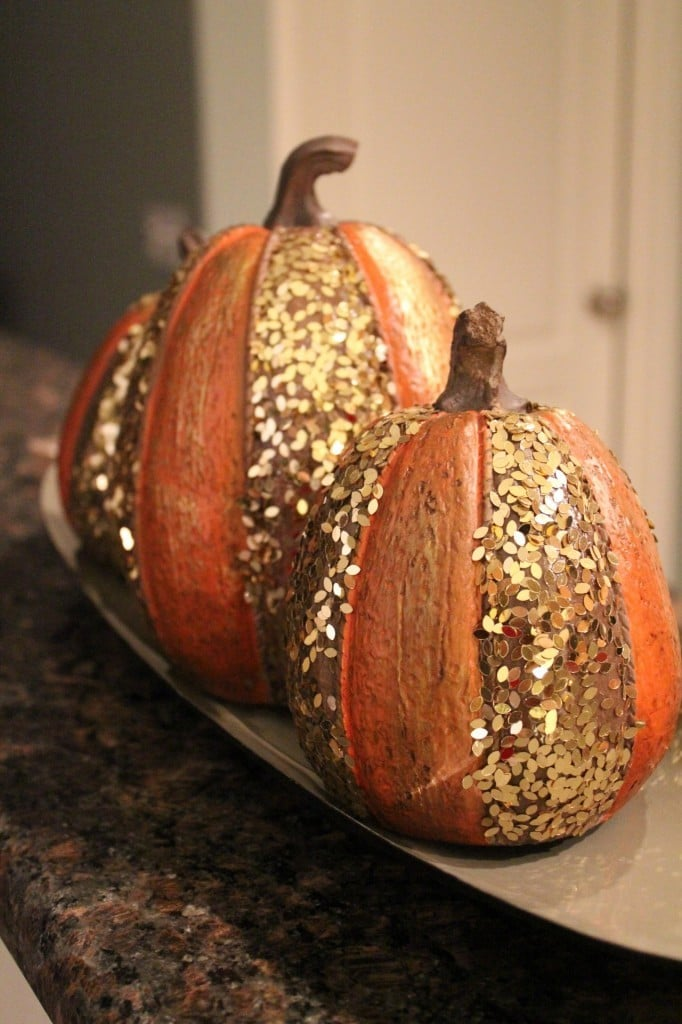 Sparkly Pumpkins Hobby Lobby | No Thanks to Cake