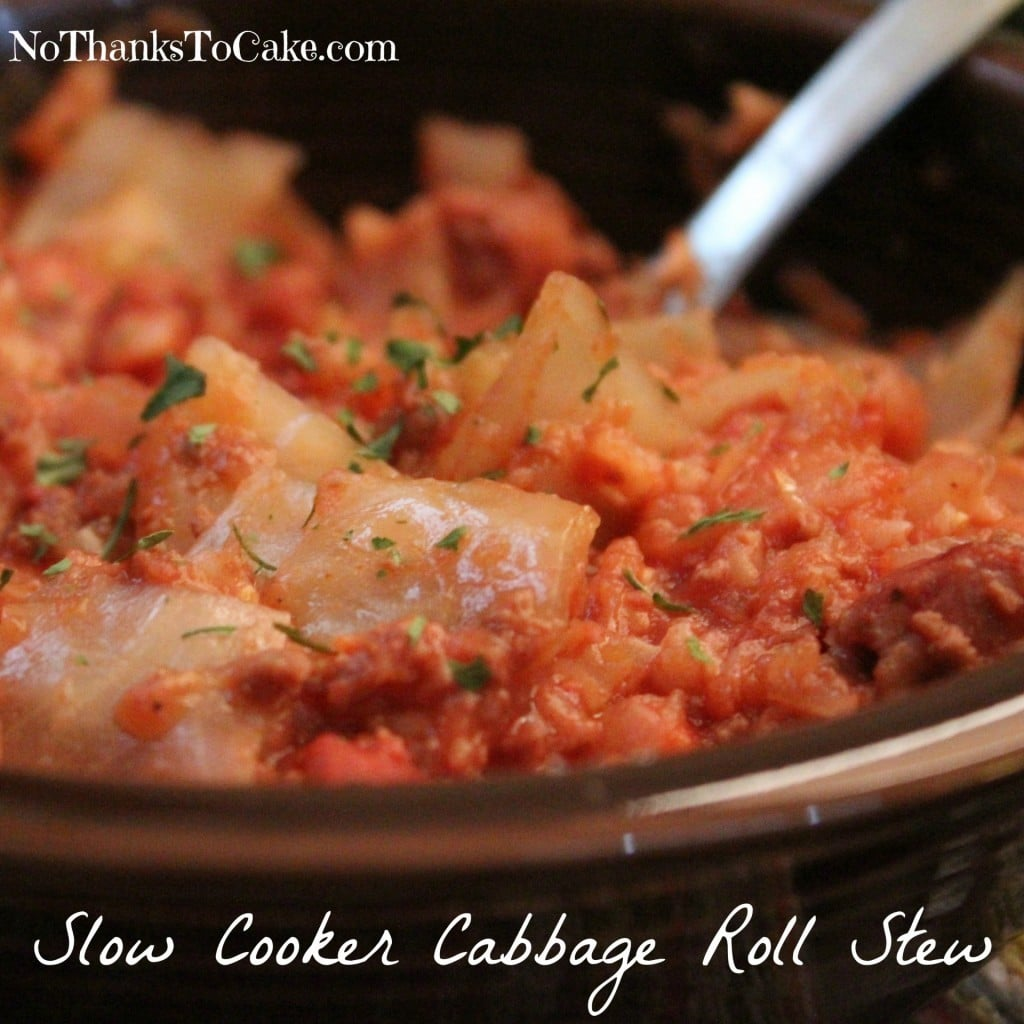 Slow Cooker Cabbage Roll Stew | No Thanks to Ca