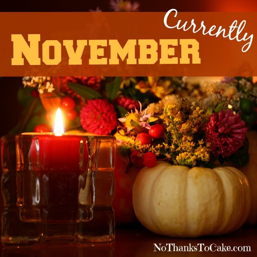 Currently November | No Thanks to Cake