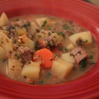 Beef Potato and Quinoa Soup
