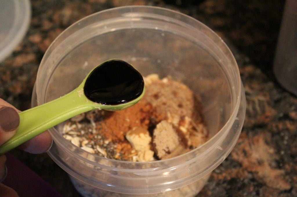 Gingerbread Overnight Oats | No Thanks to Cake