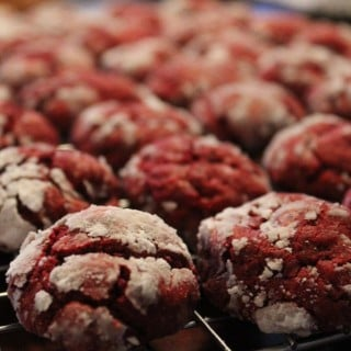 Red Velvet Gooey Butter Cookies