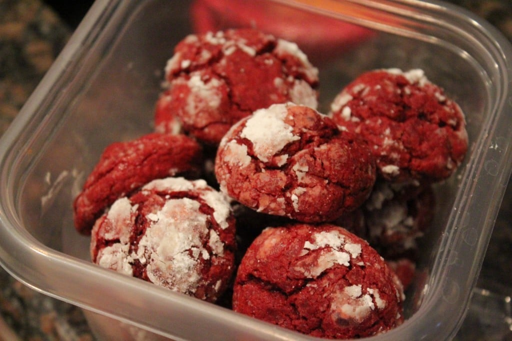 Red Velvet Gooey Butter Cookies | No Thanks to Cake