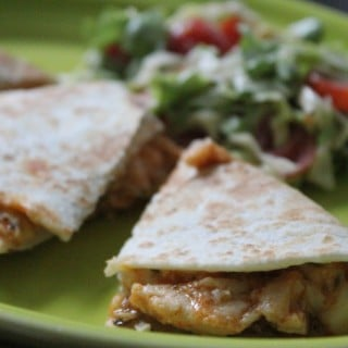 Jenny Craig Recipe Creation: Cheesy Buffalo Chicken Quesadilla